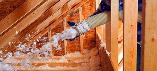 Save money this winter blow insulation.
